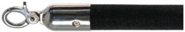 10103BC - Velours afzetkoord zwart gepolijst rvs lengte 157 cm VEBA