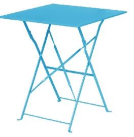 GK985 -Bolero vierkante opklapbare stalen tafel turquoise 60cm