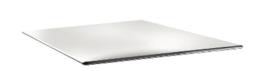 DR972 -Topalit Smartline vierkant tafelblad wit- Afmeting: 70x70cm