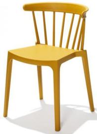 50904 - Windson oker geel is een van de nieuwe stapelbare kunststof (Polypropeen) stoel VEBA