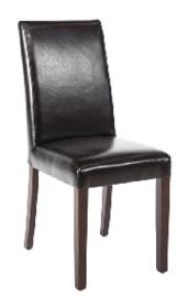 GF954 -Bolero kunstlederen stoel zwart