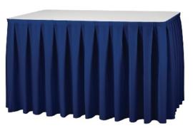 U002 -Tafelrok Boxpleat blauw