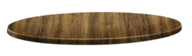 DR928 -Topalit Classic Line rond tafelblad Atacama kersenhout Afmeting: 70(Ø)cm