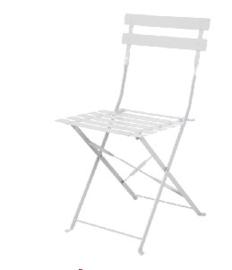 GH551 -Bolero opklapbare terrasstoelen grijs