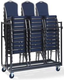 T91600 - Trolley Stackchair is door VEBA speciaal ontworpen voor het vervoeren van grote aantallen stackchairs