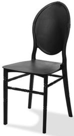 50600 - Stapelbare plastic (polypropyleen) stoel Medaillon zwart VEBA