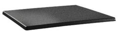 DR901 -Topalit Classic Line rechthoekig tafelblad antraciet