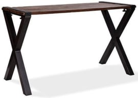 30180HX - 30220HX - Old Dutch table high - X Frame barnwood tafelblad met zwart onderstel VEBA