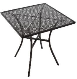 GG706 -Bolero vierkante stalen bistro tafel zwart 70cm