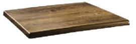 DR933 -Topalit Classic Line rechthoekig tafelblad Atacama kersenhout