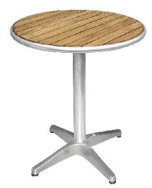 U428 -Bolero ronde tafel met essenhouten blad 60cm