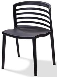 50700 - Rivièra zwart is een van de nieuwe stapelbare kunststof (Polypropeen) stoel VEBA