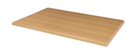 CW130 -Bolero rechthoekig tafelblad beuken