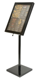 GL110 -Securit LED info display zwart -	4xA4 formaat