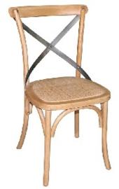 GG656 -Bolero houten stoel met gekruiste rugleuning naturel