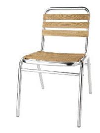 GK997 -Bolero aluminium en essenhouten stoelen