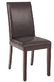 GF955 -Bolero kunstlederen stoel donkerbruin