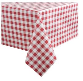 E792 -PVC tafelkleed rood/wit -89x89cm.
