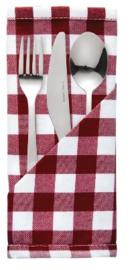 HB580 -Mitre Comfort Gingham servet rood-wit 41x41cm