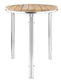 GL981 -Bolero ronde essen en aluminium tafel 60cm