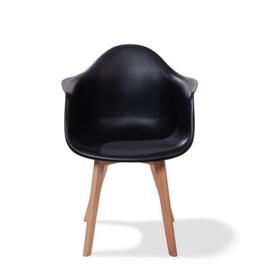 505F02SB - Keeve Trendy Zwart met armleuning een hippe en strakke stoel van VEBA