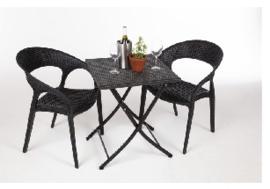 GL302 -Bolero vierkante opklapbare PE rotan tafel 60cm
