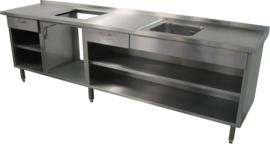 RVS Werktafelkasten