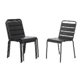 CS727 -Bolero stalen stoel grijs