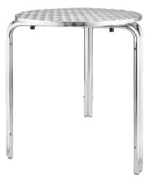 U431 -Bolero ronde stapelbare RVS tafel 60cm