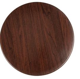 GG643 -Bolero rond tafelblad donkerbruin 60cm