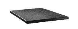 DR898 -Topalit vierkant tafelblad antraciet -Afmeting: 60x60cm