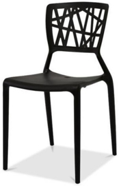 50500 - Stapelbare stoel in polypropyleen Webb Chair Black VEBA