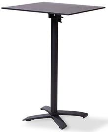 11004 + 1077 - X Cross high black zwart tafelblad met een mat zwart onderstel 70 x 70 cm