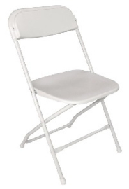 GD387 -Bolero opklapbare stoel wit