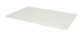 CW132 -Bolero rechthoekig tafelblad wit -Afmeting: 120(b)x80(d)cm.