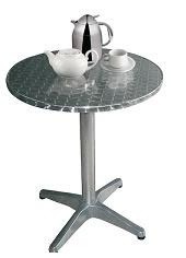 U426 -Bolero ronde RVS tafel 80cm
