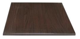 GG635 -Bolero vierkant tafelblad donkerbruin 60cm
