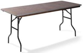 21122 - Diner Tafel Hout Recht 122 cm zwart onderstel en een 18 mm multiplex tafelblad VEBA