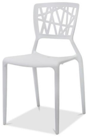 50501 - Webb Chair Wit is een stapelbare stoel in polypropyleen. zeer sterk, stabiel en comfortabel VEBA