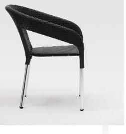 CG223 -Bolero kunststof rotan stoel zwart