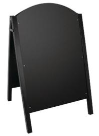 CL009 -Olympia stoepbord met zwart metalen frame Schrijfvlak: 87x60cm