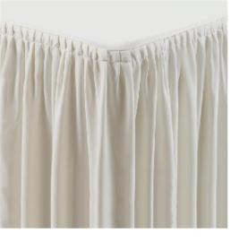 CB085 -Tafelkleed met rok crème - plissé
