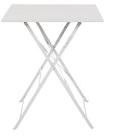 GK988 -Bolero vierkante opklapbare stalen tafel grijs 60cm