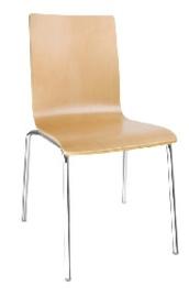 GR342 -Bolero stoel met vierkante rug beuken - 4 stuks