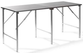 23100 - RVS werktafel met een aluminium opklapbaar frame