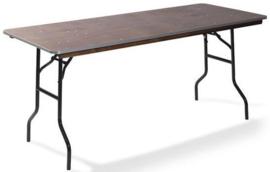 21220 - Diner Tafel Hout Recht 220 cm zwart onderstel en een 18 mm multiplex tafelblad VEBA