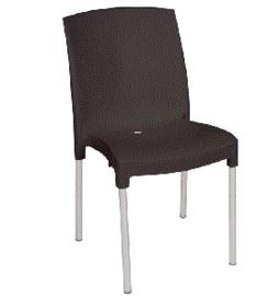 GJ976 -Bolero stapelbare zwarte stoelen