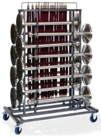 T91000 - Trolley Afzetpalen heeft een maximale capaciteit van 16 afzetpalen