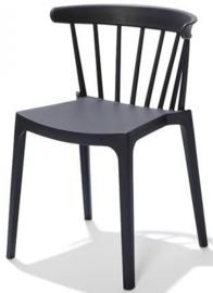 50902 - Windson antraciet / grijs is een van de nieuwe stapelbare kunststof (Polypropeen) stoel VEBA