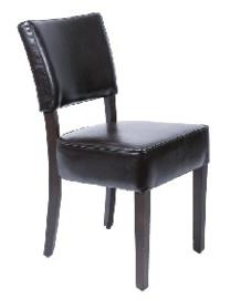 GF957 -Bolero robuuste kunstlederen stoel donkerbruin